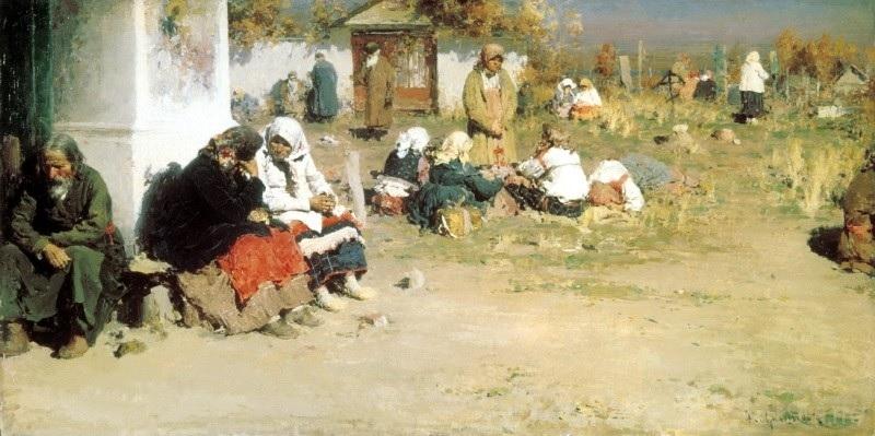 Архипов Абрам Ефимович. Радоница (Перед обедней)
