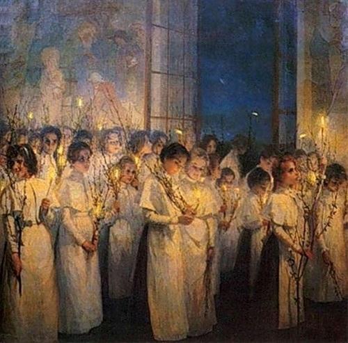 Православные праздники в изобразительном искусстве. Вербное воскресенье